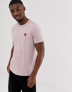 Read more about Burton menswear hibiscus embroidered t-shirt in pink