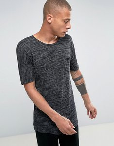 Read more about Bellfield t-shirt with drop shoulder in texture - black