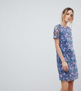 Read more about Dolly delicious tall allover embroidered aline shift dress - purple multi