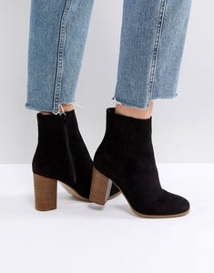 Read more about Asos elita heeled ankle boots - black