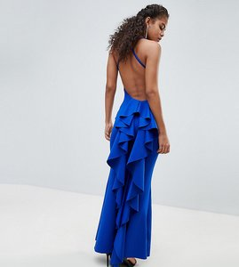 Read more about City goddess tall waterfall back maxi dress - cobalt blue