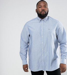 Read more about Tommy hilfiger plus oxford shirt buttondown regular fit in blue - estate blue