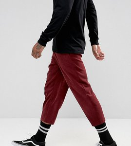 Read more about Reclaimed vintage inspired relaxed trousers in cord - wine