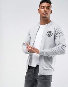Read more about Hype jersey bomber jacket in grey - grey
