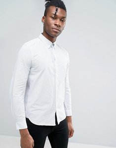 Read more about French connection shirt in slim fit with printed dot detail - white
