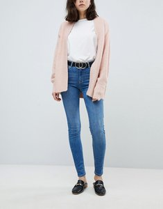 Read more about Pieces mid rise skinny jean in blue