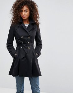 Read more about Asos skater trench coat - black