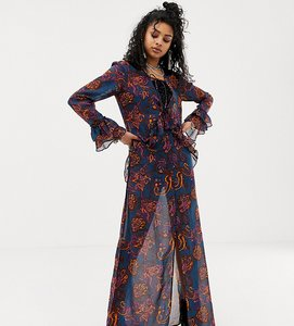 Read more about Sacred hawk maxi dress in sheer floral paisley