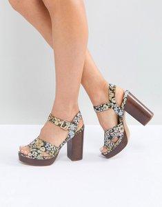44ed6345b9e aldo platform floral sandals black white - Shop aldo platform floral ...