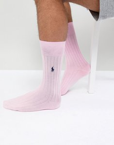 Read more about Polo ralph lauren egyptian cotton socks player logo in pink - pale rose