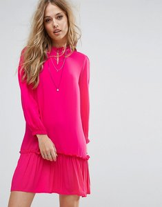 Read more about Only woven dress with frill hem - fuschia