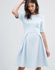 Read more about Traffic people pleated skater dress - blue