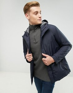 Read more about Esprit hooded coat with concealed placket - navy 400