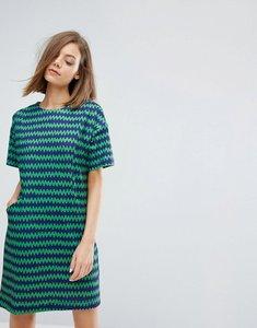 Read more about Warehouse stripe print dress - green print