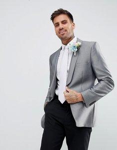Read more about Burton menswear blazer in jacquard print - silver