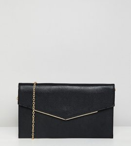Read more about New look foldover clutch bag in black