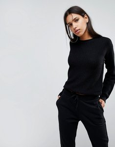 Read more about Noisy may knitted jumper - black