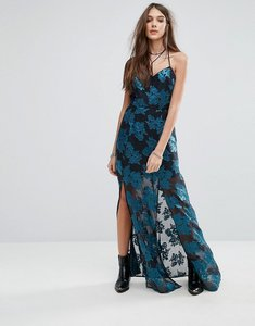 Read more about Lovers friends floral cami maxi dress with split - jade