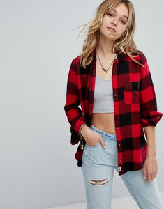 Read more about Hollister boyfriend check shirt - red buffalo check
