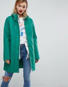 Read more about Asos premium borg raincoat - green