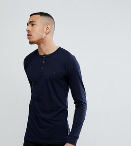 Read more about French connection tall long sleeve henley - navy
