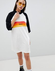 Read more about The ragged priest oversize t-shirt dress with slogan - multi