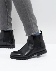 Read more about Zign chunky leather chelsea boots - black