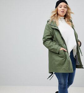 Read more about Asos curve summer parka with jersey lining - khaki