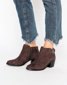 Read more about Head over heels buckle heel boots - grey