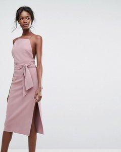 Read more about Bec bridge large tie midi dress - lavender