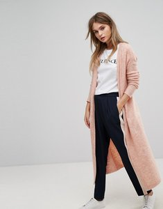 Read more about Vero moda long knitted cardigan - pink