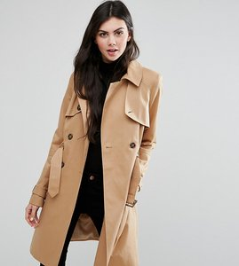 Read more about Asos tall classic trench coat - stone
