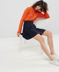 Read more about Asos tailored mini pleated skirt - navy