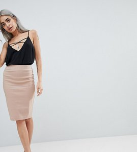 Read more about Asos design petite high waisted pencil skirt - cosmetic pink