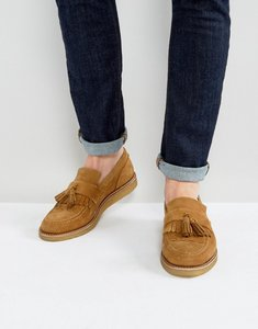 Read more about House of hounds bully suede tassel loafers in tan - tan