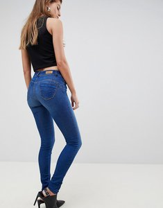 Read more about Salsa wonder push up mid rise skinny jean - medium blue