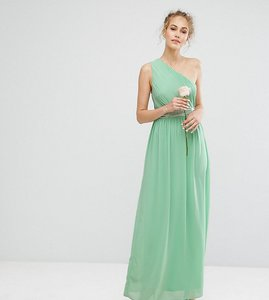 Read more about Tfnc one shoulder embellished maxi bridesmaid dress - sage green