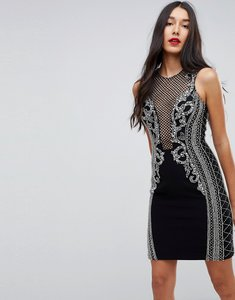 Read more about Forever unique heavily embellished mini dress - black
