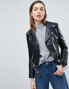 Read more about Ivyrevel leather look biker jacket - black