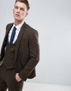 7c0c95a6821 Read more about Asos design slim suit jacket in 100 wool harris tweed in  brown herringbone
