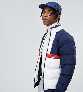 Read more about Fila black line ski padded jacket - navy