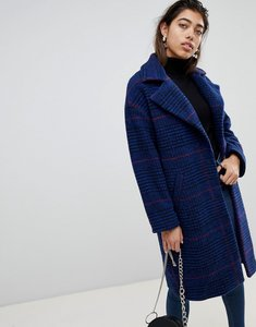 Read more about Mango longline check coat - navy check