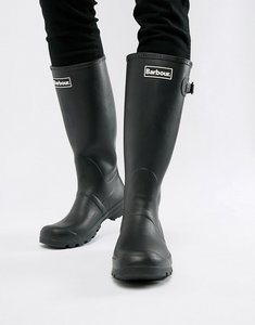 Read more about Barbour tall wellington boots in black - black