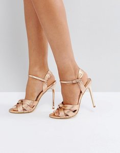 Read more about Office hollie rose gold heeled sandals - rose gold