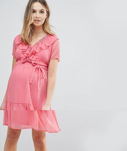 Read more about Mamalicious frill tea dress - pink
