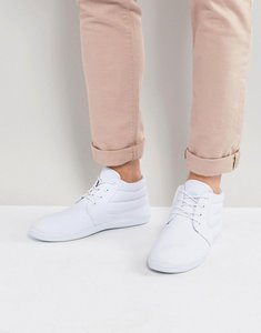 Read more about Asos chukka plimsolls in white canvas - white