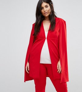 Read more about Club l plus cape blazer co-ord - red