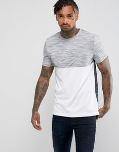 Read more about Asos t-shirt with in textured inject yarn with contrast yoke and back - white