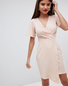 Read more about Closet london wrap over midi dress - light pink