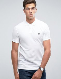 Read more about Ps paul smith slim fit zebra logo polo shirt in white - white
